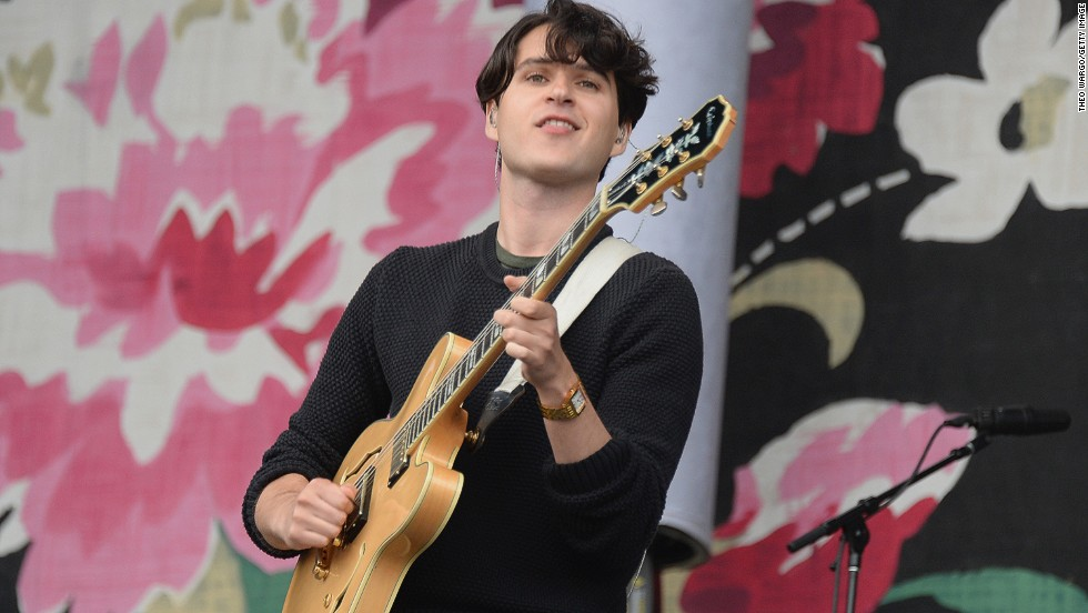 Ezra Koenig of Vampire Weekend performs on August 4.