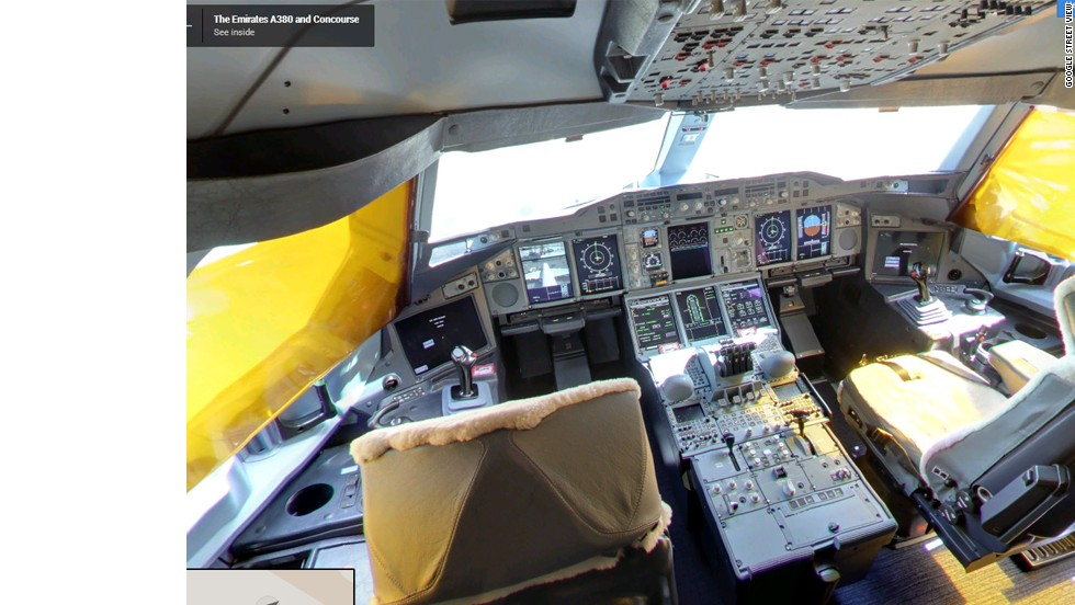 A rare chance to explore the cockpit of the Airbus A380.