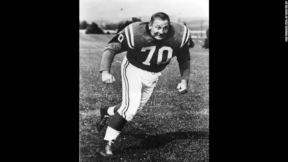 "Baltimore Colts defensive tackle <a href=""http://www.cnn.com/2013/08/05/us/art-donovan-death/index.html?hpt=hp_t2"">Art Donovan</a>, a charismatic player who was elected to the Pro Football Hall of Fame in 1968, died Sunday, August 4. He was 88."