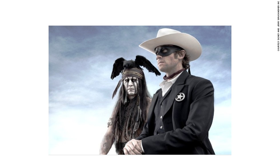 """The Lone Ranger"" was, perhaps, the year's biggest bomb, costing at least $215 million but making just $88 million domestically. International audiences liked it a little better, with a $142 million box office. Johnny Depp and Armie Hammer star."