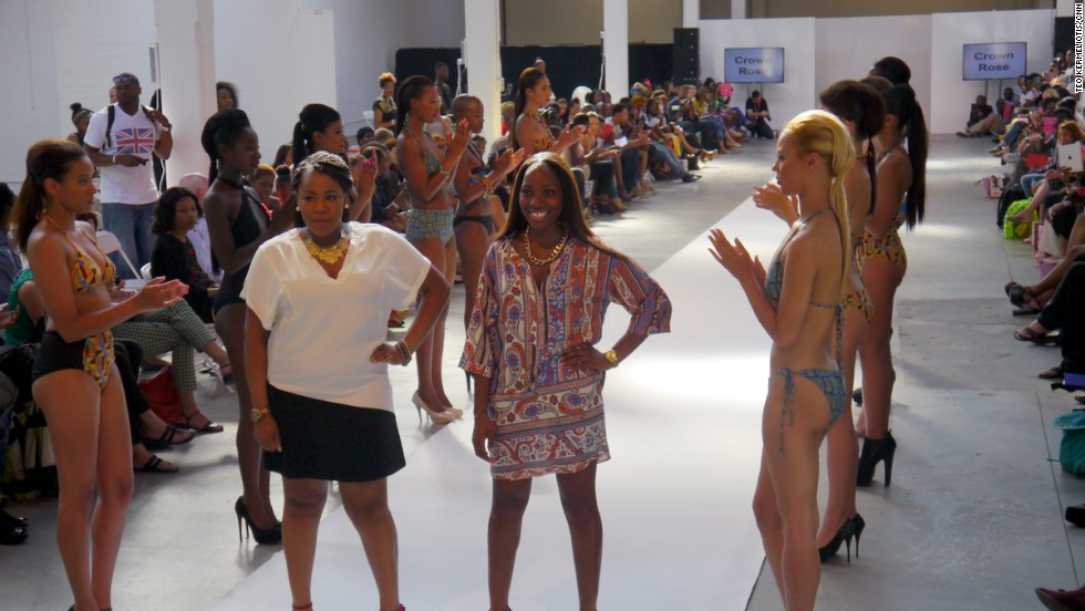 """""""We were born and raised in Britain so what we want to do is to create an Afro-temporary brand which represents where we are from here and where we come from,"""" say Mariam and Nikki, founders of """"Crown Rose,"""" a London-based swimwear brand. """"Crown Rose is a blend between culture and class."""""""