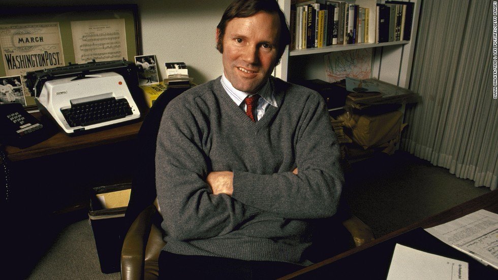 Publisher Donald Graham poses for a portrait in 1983. After filling various editorial, production and executive roles, he succeeded his mother, Katharine Graham, as publisher in 1979. He was later named chairman and CEO of the Washington Post Company.