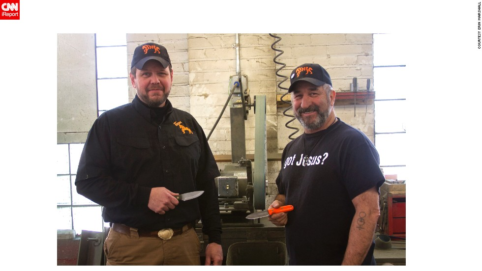 Blind Horse Knives has grossed more than $1 million since its launch, Coppins and Wright say.