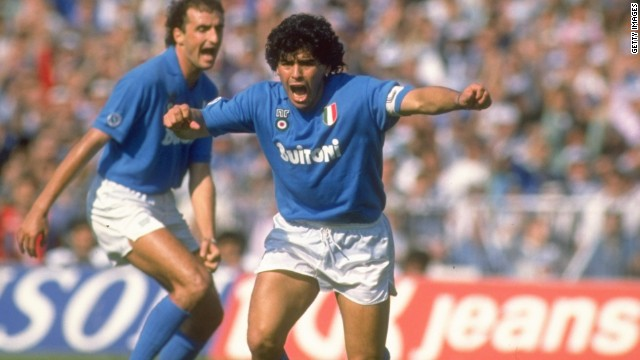 Diego Maradona moved to Napoli from Barcelona in 1984 for a world-record fee of $10.5 million.