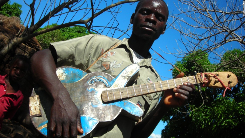 Completely self-taught, they use DIY instruments such a home-made guitar built from scrap metal.