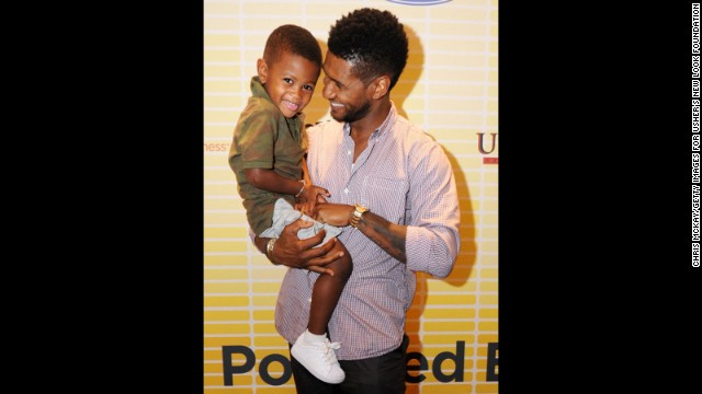 911 call: Usher's son stuck in pool drain