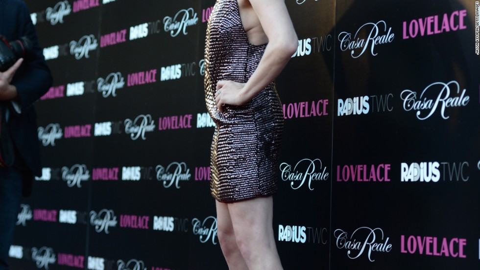 """Amanda Seyfried sparkles at the premiere of """"Lovelace"""" on August 5."""