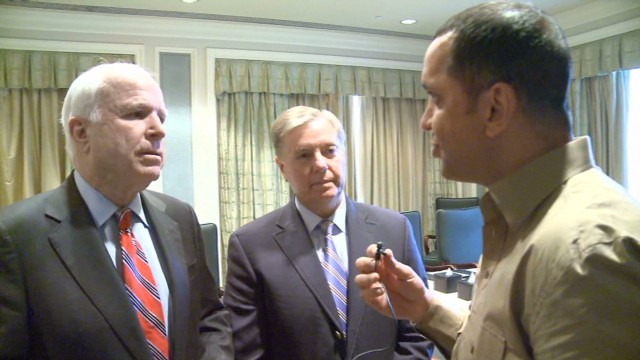 Senators McCain and Graham visit Egypt