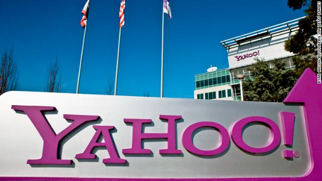Flags fly outside Yahoo! Inc. headquarters in Sunnyvale, California, U.S., on Thursday, Jan. 14 , 2010. Yahoo! Inc., owner of the No. 2 search engine in the U.S., was targeted by a Chinese attack similar to the one that affected Google Inc., according to a person familiar with the matter. Photographer: Ryan Anson/Bloomberg via Getty Images