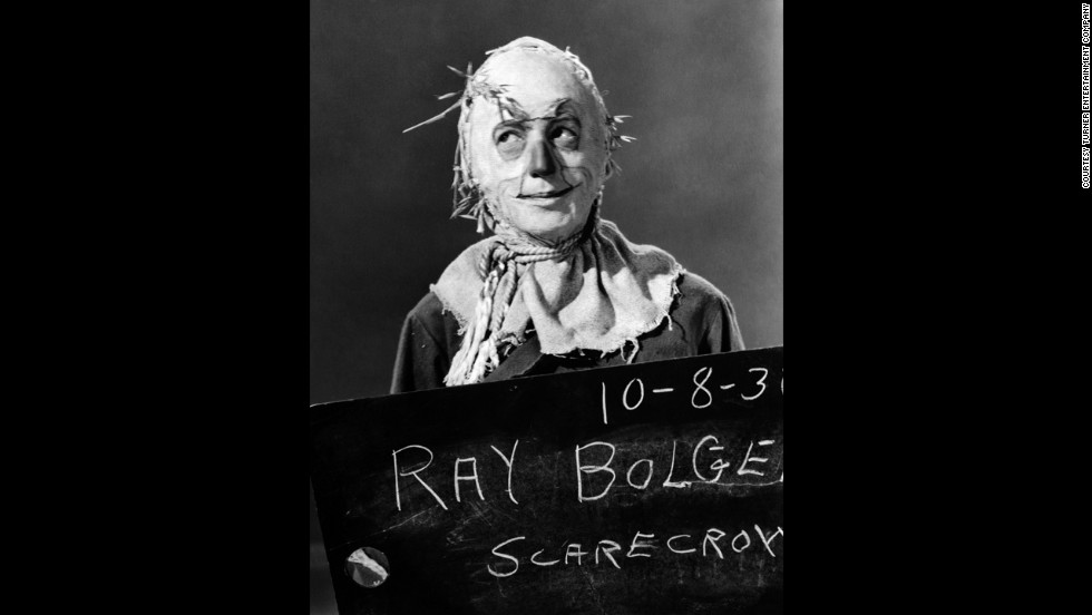 Ray Bolger in a reversed shot during a wardrobe and makeup test.