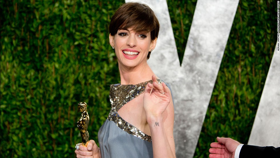 "Lopping off her hair for 2012's ""Les Miserables"" <a href=""http://stylenews.peoplestylewatch.com/2012/07/13/anne-hathaway-haircut-les-miserables/"" target=""_blank"">made Anne Hathaway cry</a>, as she told Kelly Ripa last year, but she now seems to be loving it. After all, she won an Oscar with that short cut."