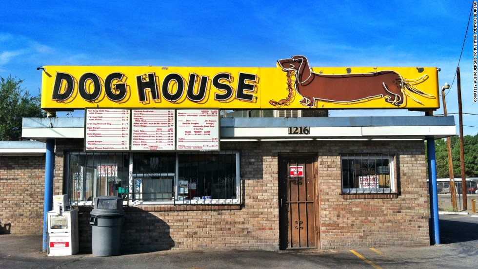 """Breaking Bad"" fans will recognize this place that Jesse Pinkman visits several times on the show. For nearly 60 years, this relic of an eatery has been serving up burgers, tater tots, foot-long chili cheese dogs and Frito pies."