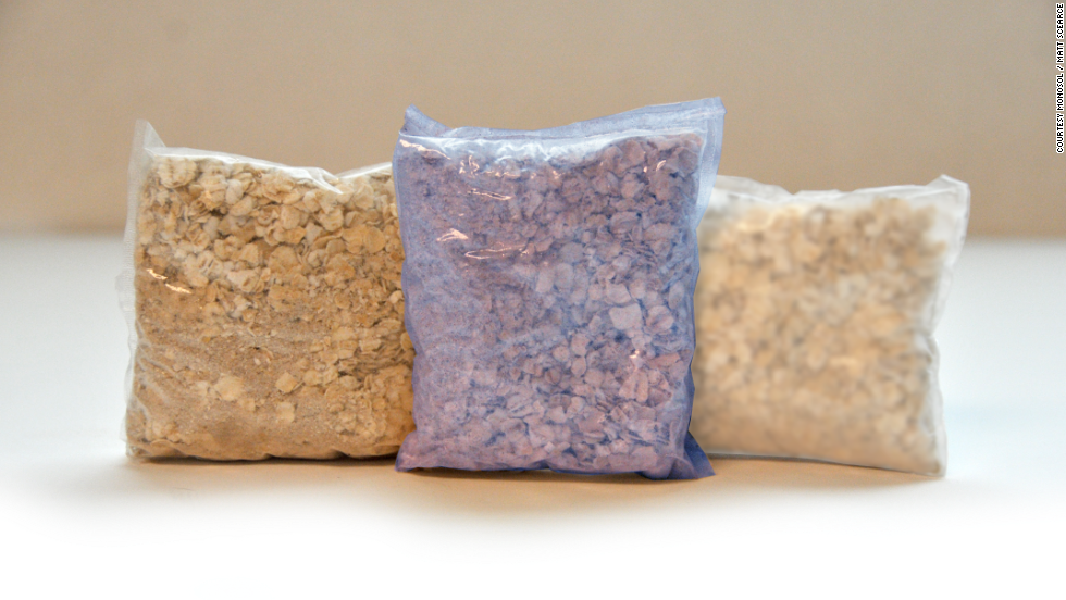 Monosol, the company behind dissolvable detergent wrappers, has expanded into the food market: just drop your sachet of oatmeal, hot chocolate or coffee into hot or cold water and watch the packaging disappear.