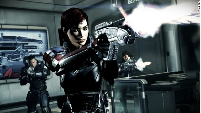 "In ""Mass Effect 3,"" protagonist Commander Shepard can be customized to be played as either a man or a woman."