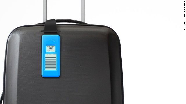 Bag to the future: British Airways' e-ink reusable luggage tag.