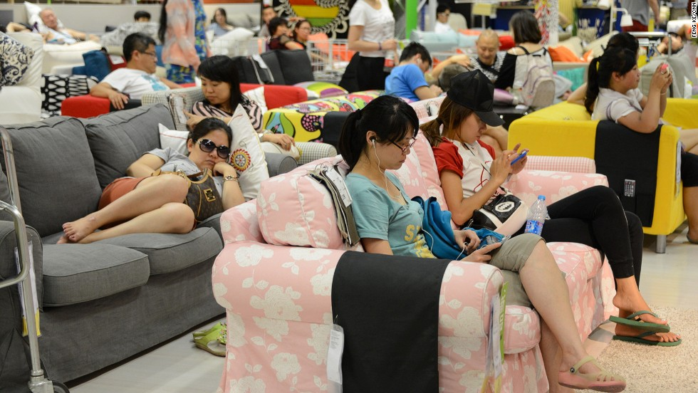 Communal living has never been as celebrated as in the Beijing Ikea.