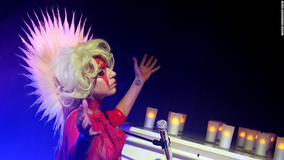 Lady Gaga performs at the launch of V61 hosted by V Magazine, Marc Jacobs and Belvedere Vodka in 2009 in New York.
