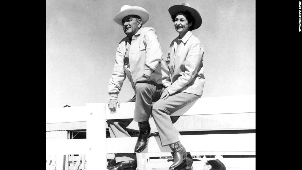 President Lyndon Johnson and his wife, Lady Bird, often vacationed at the LBJ Ranch in Johnson City, Texas.