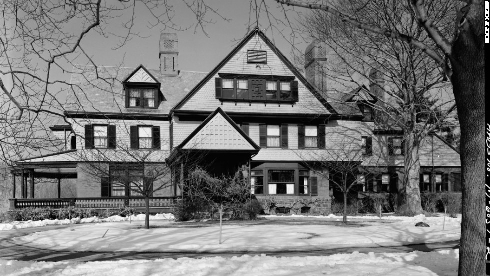 President Theodore Roosevelt's Sagamore Hill home in Oyster Bay, New York, often served as his vacation retreat.