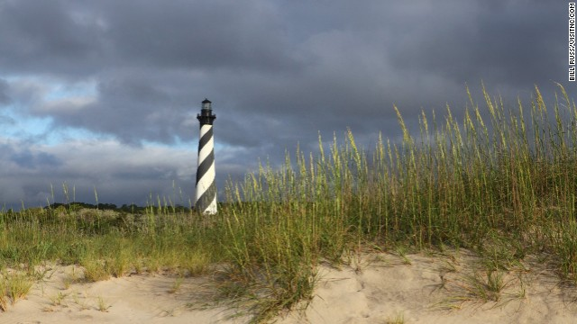 The Cape Hatteras Lighthouse in Buxton is an iconic North Carolina landmark. Climb to the top for sweeping ocean views.