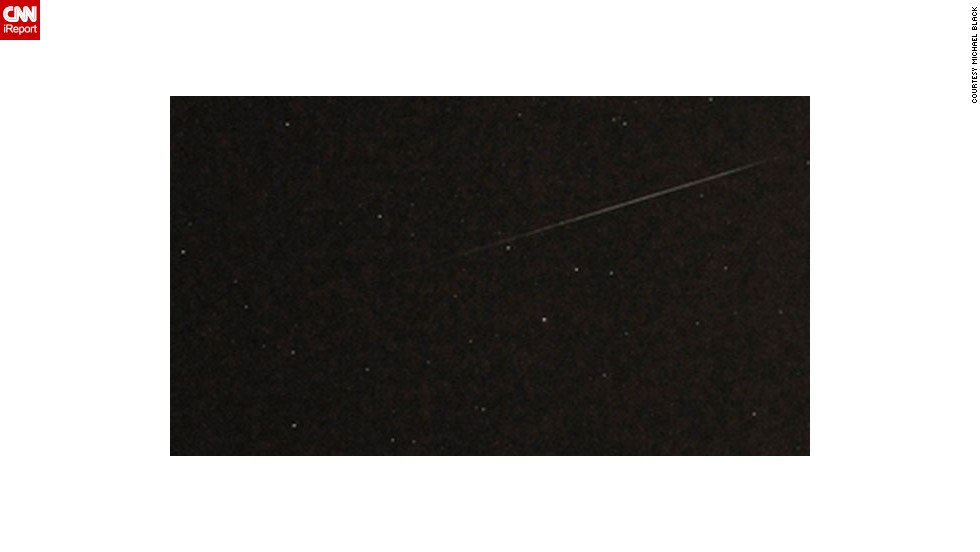 "<a href=""http://ireport.cnn.com/docs/DOC-480957"">Michael Black </a>captured an unobstructed view of Perseid from Belmar, New Jersey, in August 2010."
