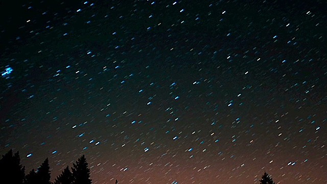Perseid meteor shower lights up sky