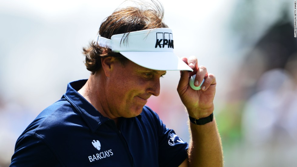 Phil Mickelson had a round to forget Saturday, shooting a 78. But he was back at Oak Hill on Sunday and fared better, carding a 72. He finished in a tie for 72nd.