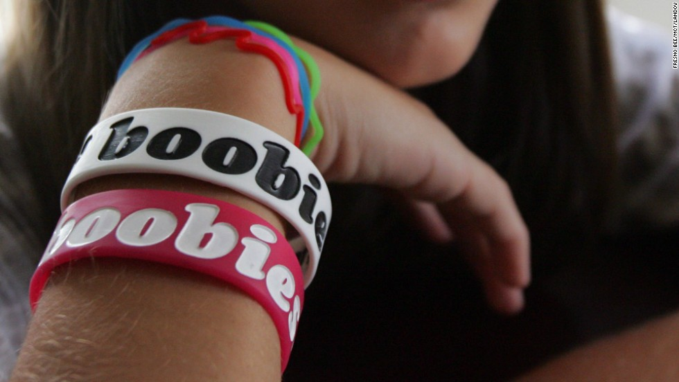 """In 2010, middle and high school students around the country were told to remove <a href=""""http://thechart.blogs.cnn.com/2010/09/02/schools-ban-boobies-bracelets/comment-page-2/"""">bracelets that read """"I heart boobies,""""</a> CNN affiliate KXTV reported. A federal court in said the bracelets are protected speech because they're part of a breast cancer awareness campaign and that a district in Pennsylvania can't enforce its ban on them."""