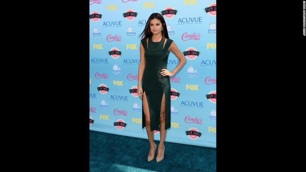 "Selena Gomez, who has parlayed her ""Wizards of Waverly Place"" fame into a chart-topping album, arrives at the awards."