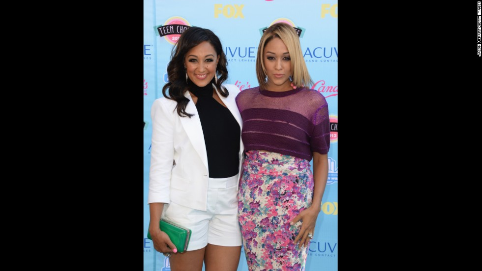 "Tia and Tamera Mowry, best known for their early role in the sitcom ""Sister Sister,"" arrive."