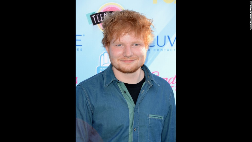 English Singer-songwriter Ed Sheeran arrives