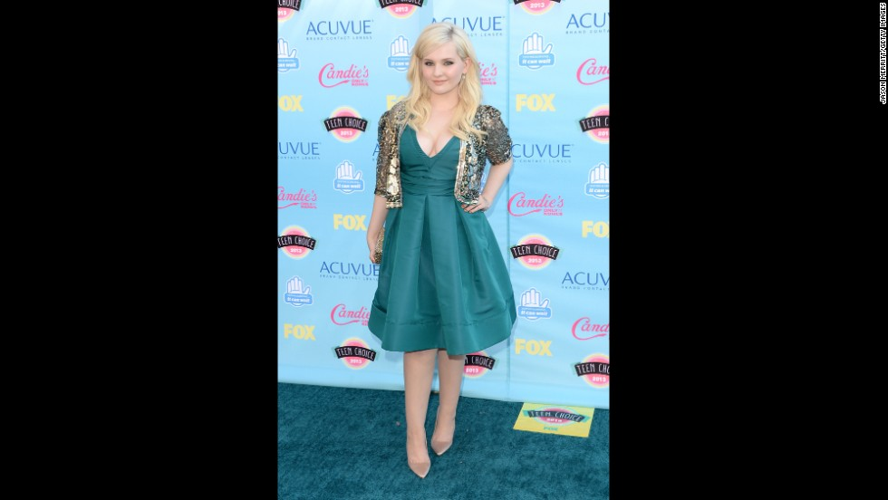 "Actress Abigail Breslin, known for her breakthrough role as Olive in 2006's ""Little Miss Sunshine,"" arrives."