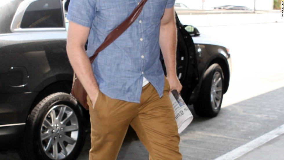 Matthew Morrison catches a flight at Los Angeles' LAX on August 9.