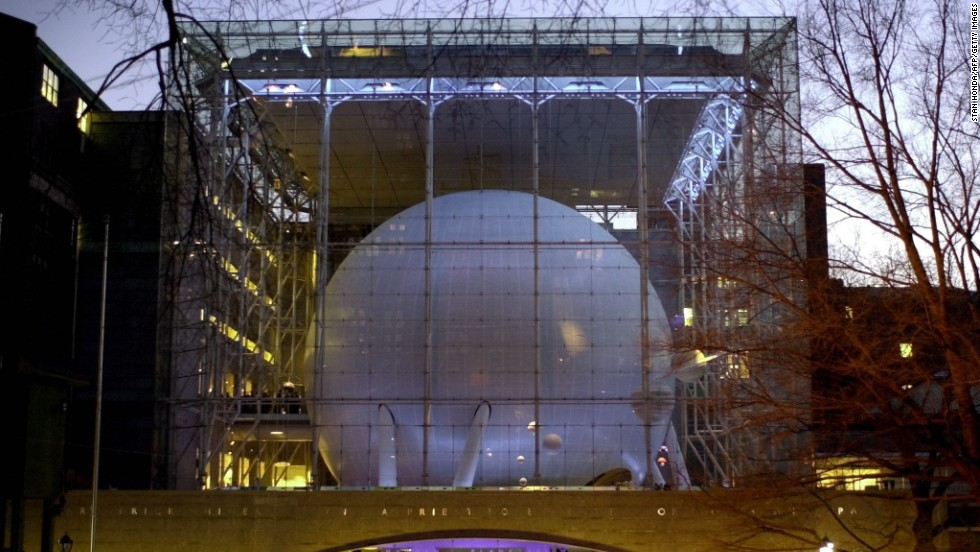 """The spherical Hayden Planetarium sits within the Rose Center for Earth and Space at the American Museum of Natural History. The Digital Universe, a """"3-D atlas of the universe"""" developed specially by the planetarium, makes interstellar travel possible for visitors -- or at least the sense of it."""