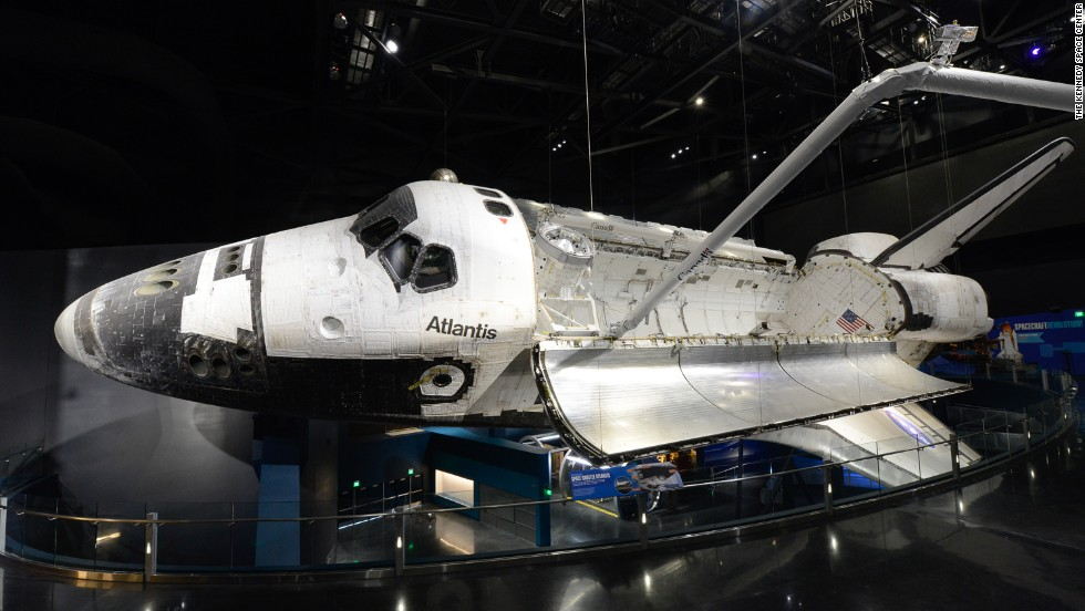 While no more manned shuttles light up the sky above Kennedy Space Center in Cape Canaveral, Florida, the center's Visitor Complex remains a popular destination for space enthusiasts. The biggest exhibit is the Space Shuttle Atlantis attraction, shown here.
