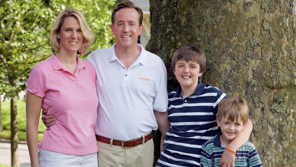 Don't go hungry: To stay at a healthy weight, families like the Carrolls, pictured, have to eat, not starve.