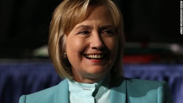 Clinton gets political in rare speech