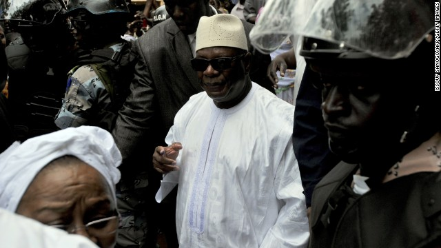 Former Prime Minister Ibrahim Boubacar Keita gets a concession message from his opponent in the runoff election.