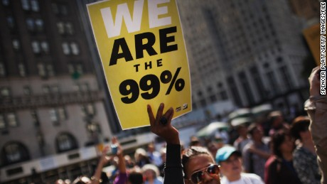 """The Occupy protesters made the catchphrase """"We are the 99%"""" part of the national conversation."""