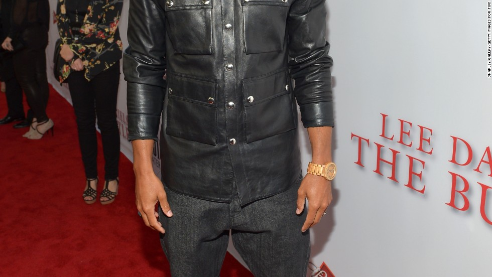 "Jesse Williams of ""The Butler"" and ""Grey's Anatomy"" tries on the leather trend at the premiere of his new movie on August 12."