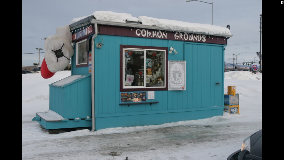 Pictured is the Common Grounds coffee stand where Keyes abducted Samantha Koenig on February 1, 2012, in Anchorage, Alaska.  Authories believe that Keyes confined her and killed her the next day.