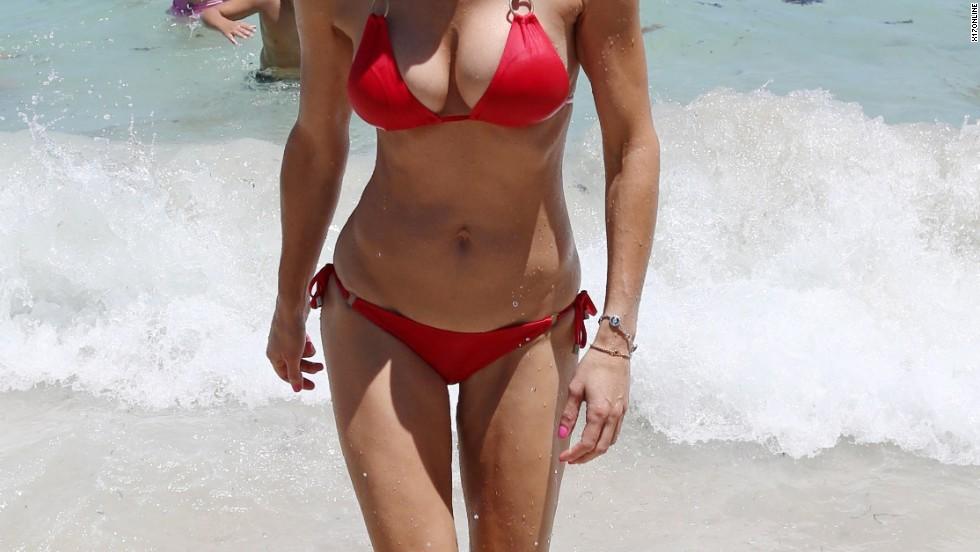 Bethenny Frankel goes for a dip in Miami on August 13.