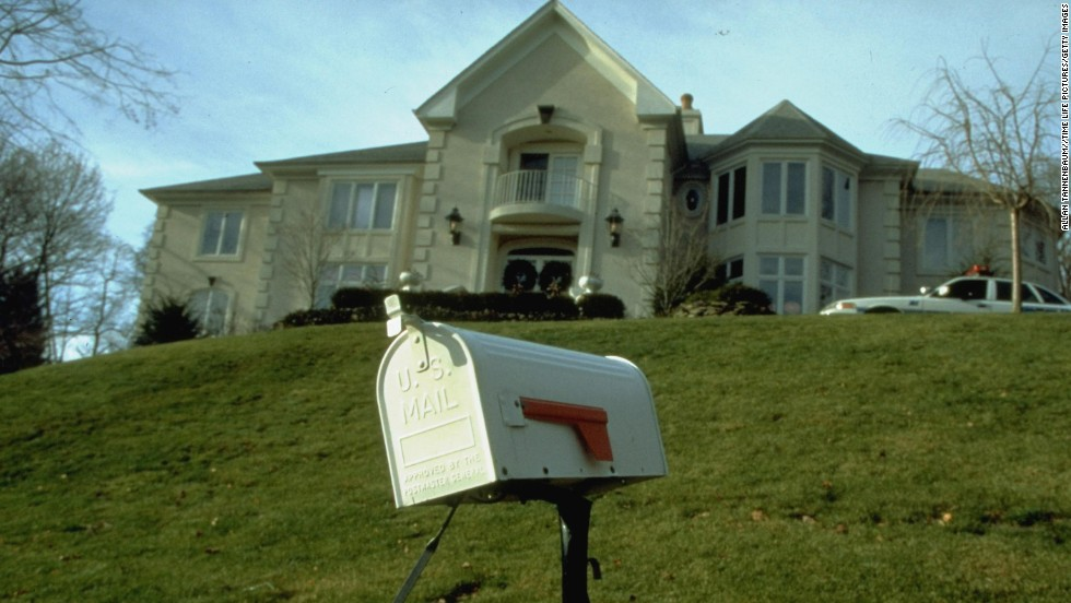 The home of Thomas Mosser, one of the victims of the Unabomber, is seen in 1994.