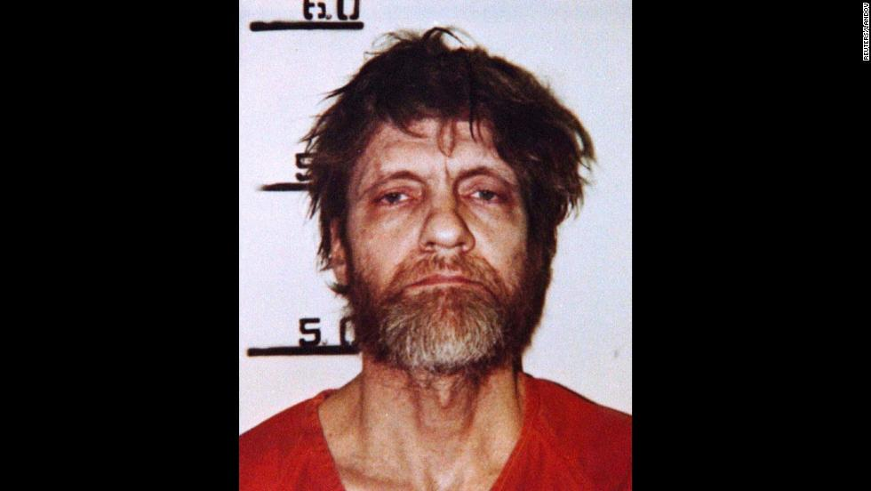 Ted Kaczynski is seen in his booking mugshot in April 1996.