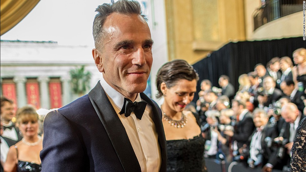 Daniel Day-Lewis (seen here with wife Rebecca Miller arriving at the 2013 Oscars) is still dashing at 57.