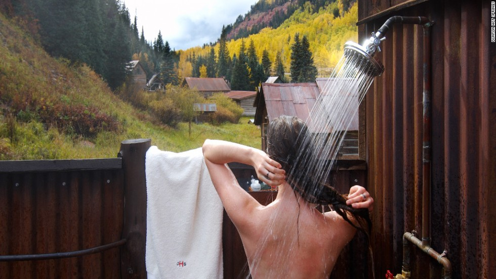 Dunton Hot Springs, a former gold and silver mining village, has been transformed into a rustic paradise with a dance hall, spa and 12 private cabins (Echo Cabin pictured).