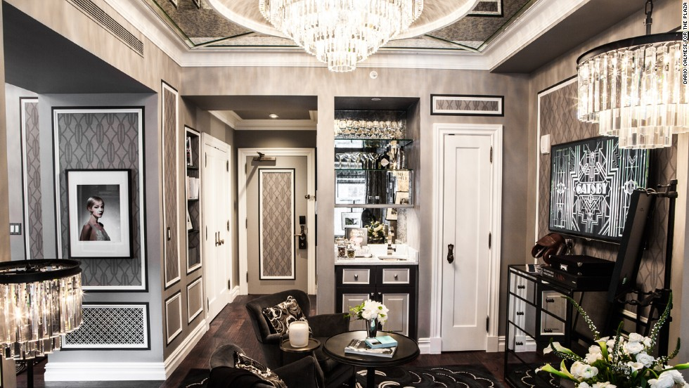 """You can almost feel the jazz radiating from the walls of this historic F. Scott Fitzgerald haunt. The writer loved the Plaza so much, he made it a setting in """"The Great Gatsby."""" Today's Fitzgerald Suite (pictured) pays homage to the master and his era."""