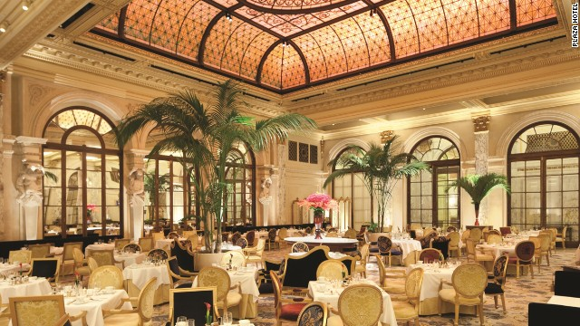 The Plaza Hotel's Palm Court: available for breakfast, lunch, tea and your extremely impressive reception.