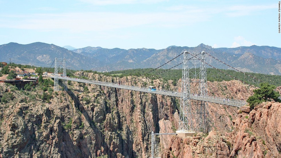 "This is the highest bridge in the United States: <a href=""http://www.royalgorgebridge.com "" target=""_blank"">Royal Gorge Bridge</a> near Canon City, Colorado. In 2010, Sakowski made headlines when -- armed with a laser distance finder -- he showed that the bridge was not as high as advertised. Since the 1920s it had been billed as 1,053 feet high. Sakowski marked it at 955. ""I kind of shook things up a bit there,"" Sakowski said."