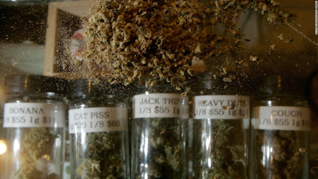Different varieties of medical marijuana are seen at the Alternative Herbal Health Services cannabis dispensary in San Francisco on April 24, 2006. The Food and Drug Administration issued a controversial statement a week earlier rejecting the use of medical marijuana, declaring that there is no scientific evidence supporting use of the drug for medical treatment.